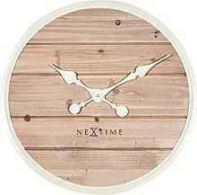 NexTime Wall Clock, Wood, White, 50