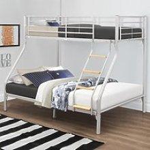 Nexus Silver Finish Metal Triple Sleeper Bunk Bed