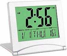 NEYOANN Travel Alarm Clock, Digital LCD Display