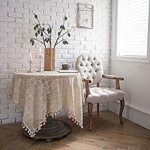 NgFTG Vintage Cotton Crochet Tablecloth, Macrame
