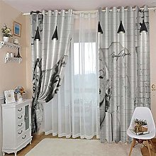 NHBTGH Blackout Curtain Grey Marilyn Monroe