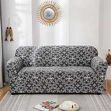 NHBTGH Stretchy Sofa Cover Black Slipcovers