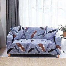 NHBTGH Stretchy Sofa Cover Blue Feather Slipcovers