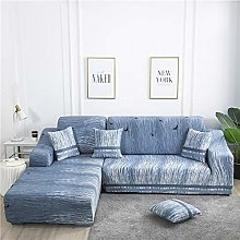 NHBTGH Stretchy Sofa Cover Blue Slipcovers
