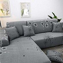 NHFGJ Premium Sofa Covers Simple canvas pattern