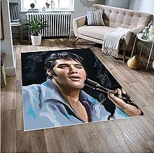 NHGBV Elvis Presley Rug Carpet Living Room