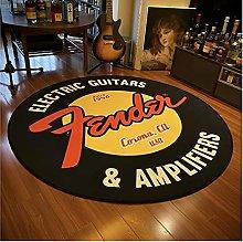 NHGBV Fender Guitar Round Carpet Rock Floor Mats