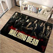 NHGBV Rug Walking Dead Rug Living Room Carpet Area