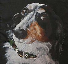 NHJC Paintings on Canvas,Dachshund Sausage,Canvas