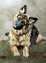 NHJC Paintings on Canvas,German shepherd,Canvas