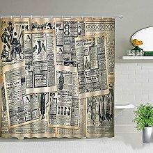 NHJUS Shower curtainParis Shower Curtain Retro