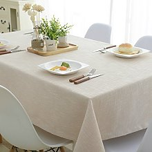 NHOMY Cotton Linen Tablecloth Beige Table cloth
