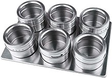 NHsunray 6 Piece Magnetic Spice Jar with Clear