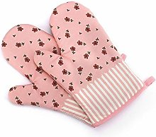 NHYTG Oven Gloves House Oven Mitts With Quilted