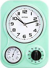 NIA Metal Retro Kitchen Clock with Mechanical