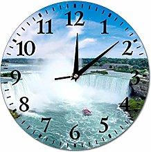 Niagara Falls Wall Clock Silent Non Ticking Round