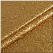 NIANTONG Gold Faux Leather Fabric By Meter