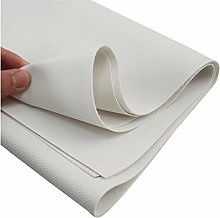 NIANTONG White Grained Faux Leather Upholstery