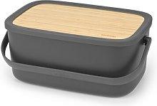 Nic Bread Bin Brabantia Colour: Dark Grey