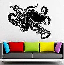 Nice Octopus Wall Sticker Marine Animal Vinyl Wall