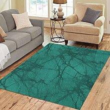 Nice-people Area Rug Geometric Emerald Green Batik