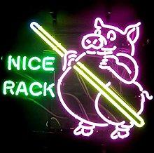 NICE RACK Real Glass Neon Light Sign Home Beer Bar