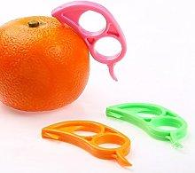 NiceButy 4 x Orange Opener Peeler Slicer Cutter