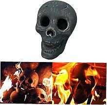 NiceButy Ceramic Fireproof Fire Pit Skull,