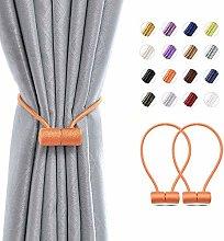NICEEC 2 Pack Magnetic Curtain Tiebacks Modern