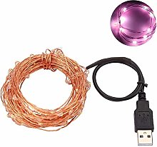 NICEJW 5/10m Copper Wire Fairy Light, Waterproof