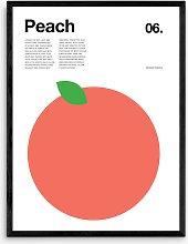 Nick Barclay - Peach Framed Print, 83.4 x 63.4cm,