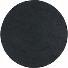 Nico Indoor/Outdoor Charcoal Grey Round Rug -