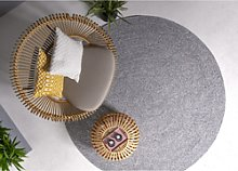 Nico Indoor/Outdoor Grey Round Rug - 200x200cm