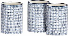 Nicola Spring 3pc Hand-Printed Tea Coffee Sugar