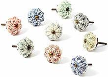 Nicola Spring Ceramic Cupboard Drawer Handle Knobs
