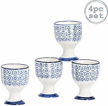 Nicola Spring Hand-Printed Egg Cup Set - Japanese