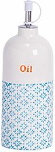 Nicola Spring Hand-Printed Olive Oil Bottle with