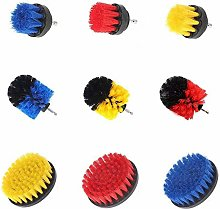 NICOLIE 3Pcs Yellow/Red/Blue Drill Cleaning Brush