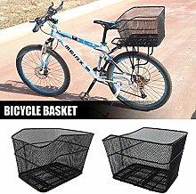 nicololfle Folding Rear Bike Basket Wire Mesh
