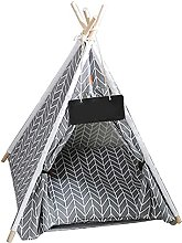 NIDONE Dog Tent Pet Teepee Dog Tent with Cushion