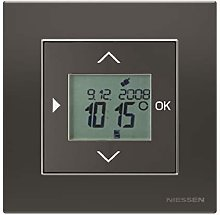 Niessen Waves Thermostat Lid + Thermometer Copper