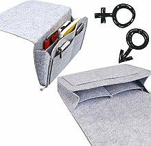 Nifogo Bedside Pocket, Soft Felt Bed Hanging