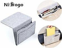 Nifogo Bedside Storage Pocket,bedside tidy,felt