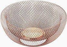 Nifty Large Copper Decorative Mesh Bowl – Modern