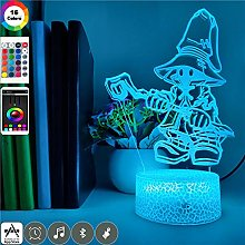 Night Light Animal Piranha Fish 3D Led Lights