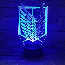 Night Light Anime Attack On Titan Led Logo