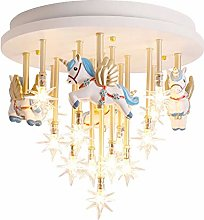Night Light Creative Cartoon Carousel Chandelier