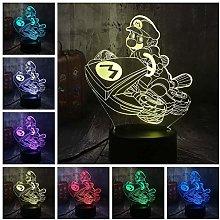Night Light Illusion Lamp Novelty Game Super Mario