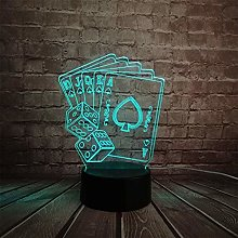 Night Lights Creative 3D Led USB Lamp Magician