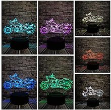 Night Lights Retro 3D LED Bulb Motorcycle Table